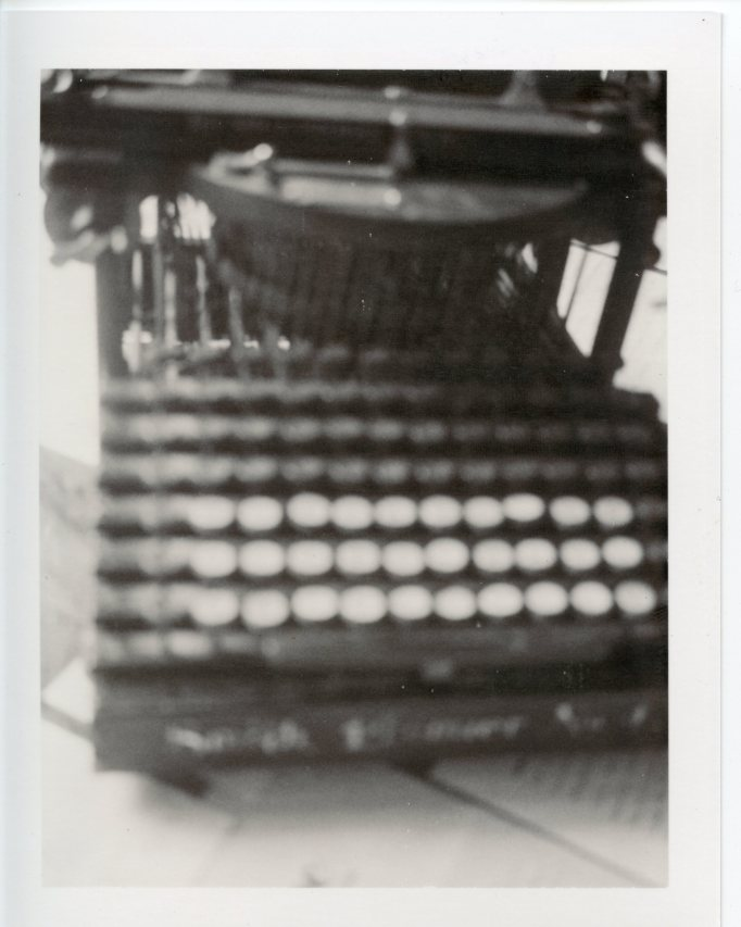 Patti Smith, Hermann Hesses's typewriter, Lugano, Switzerland, 2003, Gelatin silver print, edition of 10, 14 X 11 in (35.6 X 27.9 cm)
